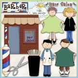 Barber Shop & Hair Salon Clip Art - CU Clip Art & B&W