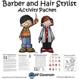 Barber and Hair Stylist Activity Packet and Worksheets