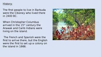 Barbuda - Caribbean Island - Power Point information facts lesson pictures