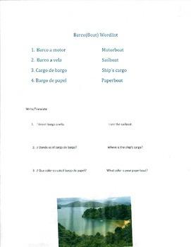 Barco (Boat) Wordlist