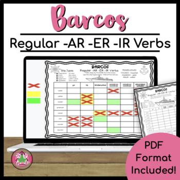 Barcos - Regular -AR -ER -IR Verbs