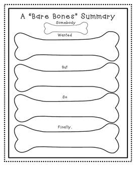 Bare Bones Summary Worksheet