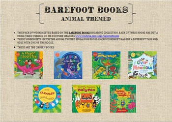 Barefoot Books worksheets (animal themed books)