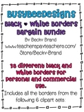 Bargain Bundle of Black & White Borders Clip Art