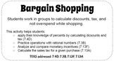 Bargain Shopping: Percent, Discount, Sales Tax