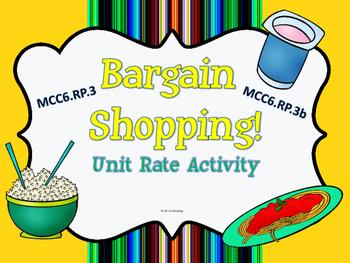 Bargain Shopping Unit Rate Activity