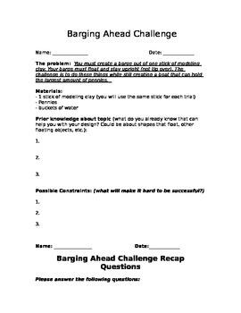 Barging Ahead Challenge