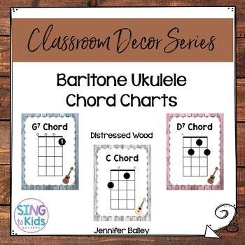 Baritone Ukulele Chords: Distressed Wood