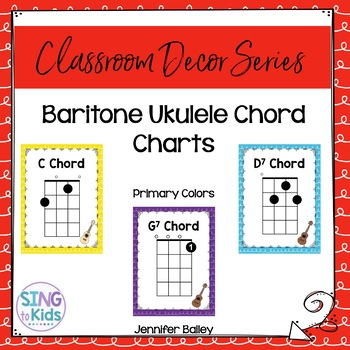 Baritone Ukulele Chords Primary Colors By Singtokids Tpt
