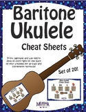 Baritone Ukulele Color-Coded Cheat Sheets