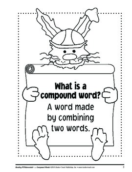 Barker Creek - Compound Words Activity Book