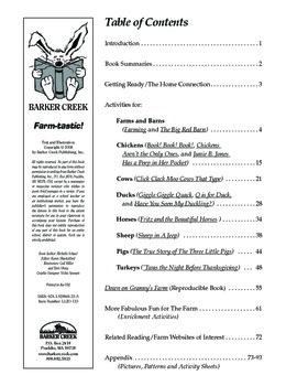 Barker Creek - Farmtastic Activity Book