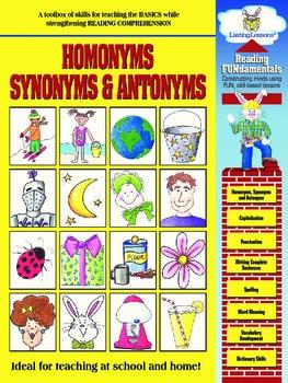 Barker Creek - Homonyms, Synonyms, & Antonyms Activity Book