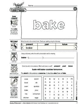 Barker Creek - Verbs and Adverbs Activity Book
