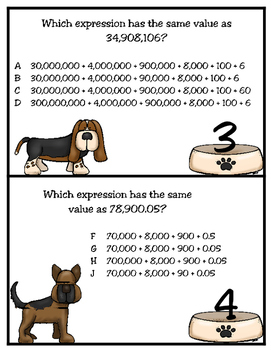 Barking Along With Expanded Notation (TEKS 4.2B)