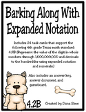 Barking Along With Expanded Notation (TEKS 4.2B) STAAR Practice