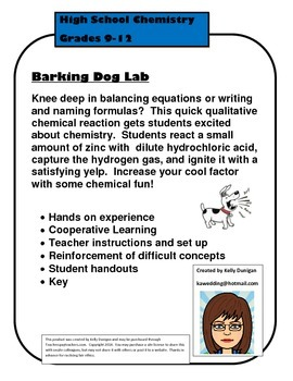 Barking Dog Single Replacement Qualitative Chemistry Lab