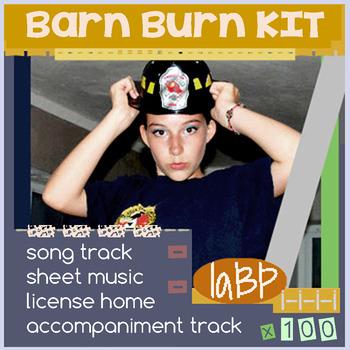 Barn Burn: choir and music teaching song kit: full license included