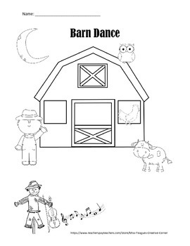 Barn Dance: Read and Draw