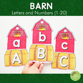 Barn Letters and Number Cards