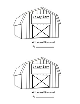 Barn Mini Book for Kindergarten Literacy Center with Answer Key and Animals