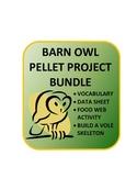 Barn Owl Pellet Unit: Data sheet, food web, analysis, vole assembly, vocabulary