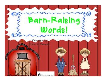 Barn-Raising Words!  Spin a CVC Word