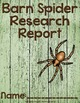 Barn Spider Research Bundle  {Anchor Chart, Report, Trifol