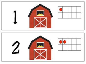 Barn Ten Frame number match puzzle