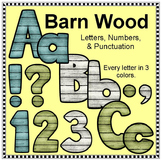 Barn Wood Letters and Numbers - Clip Art