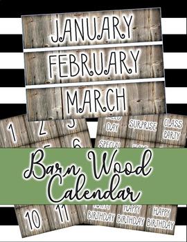 Barn Wood Calendar