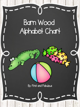Barn Wood and Chalkboard Alphabet Posters