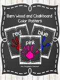 Barn Wood and Chalkboard Color Posters