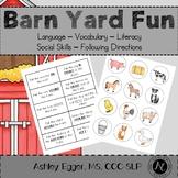 Farm Animal Activities - Speech, Language, & Literacy