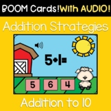 Kindergarten Addition Within 10 | Counting and Cardinality | Math Boom Cards
