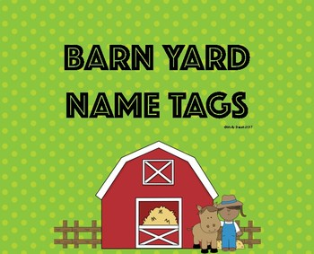 Barn Yard Name Tags