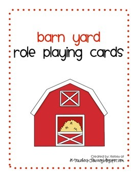 Barn Yard Role Playing Cards