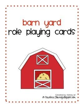 Barn Yard Role Playing Cards