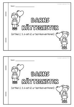 Barns rättigheter - häfte med 4 artiklar från Barnkonventionen