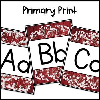 Barnwood Chic Classroom Decor: Alphabet Line
