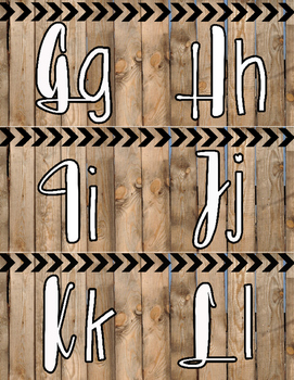 """""""Fixer Upper"""" Style Barnwood Word Wall Alphabet Letters"""