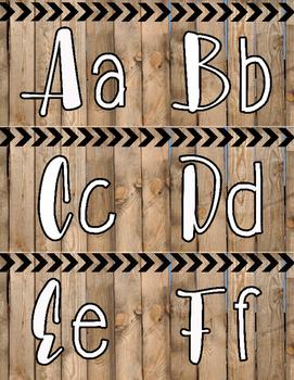 Barnwood Word Wall Alphabet Letters