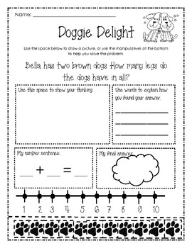 Barnyard Addition and Subtraction Word Problem Practice {Common Core Aligned}