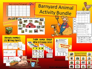 Barnyard Animal Activities BUNDLE   * Farm Animal Activiti