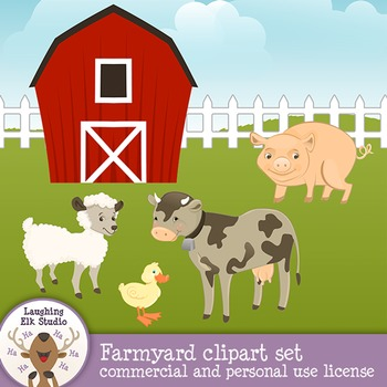 Barnyard Animals Clipart Set