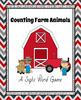 Counting Farm Animals - A Sight Word Game {Freebie}