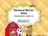 Barnyard Barrier Game