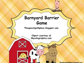 Barnyard Barrier Game