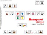 """Barnyard Bingo"" Adapted Game Board for Functional Communication"