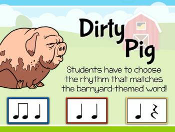 Barnyard Blast - Farm themed Interactive PDF game to identify Rhythm